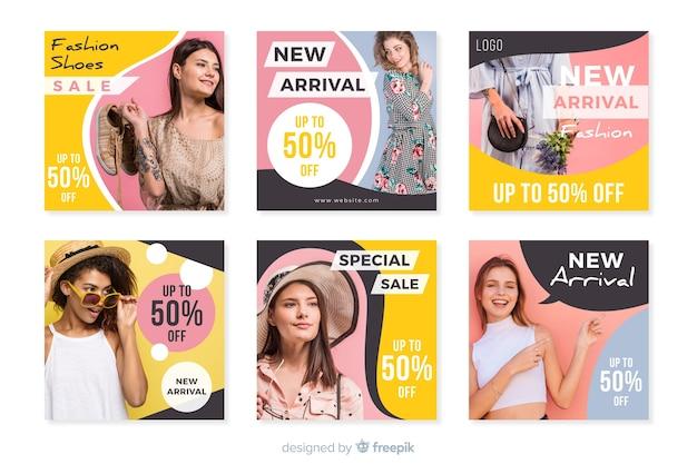 Coleção de modelos de postagens instagram com foto