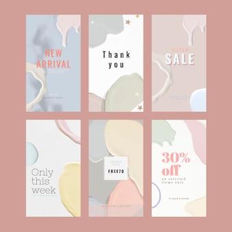 Coleção de modelos de venda de moda