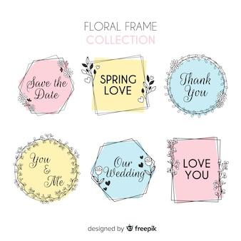 Coleção de moldura floral primavera