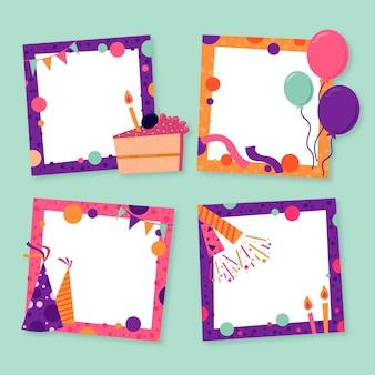 Coleção de molduras de colagem de aniversário