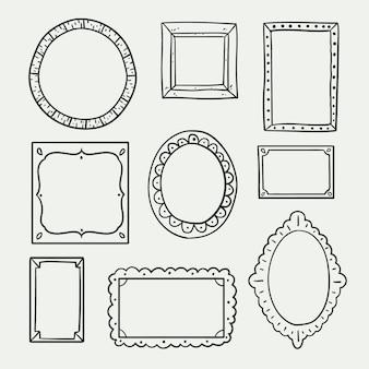 Coleção de molduras de doodle