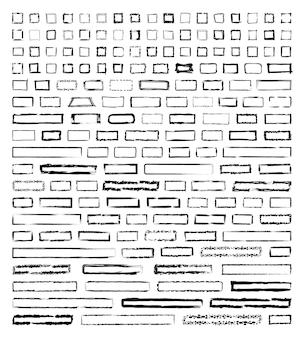 Coleção de molduras quadradas texturizadas