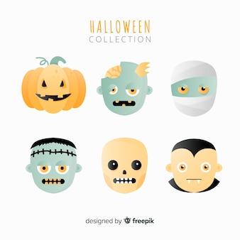 Coleção de monstros de halloween