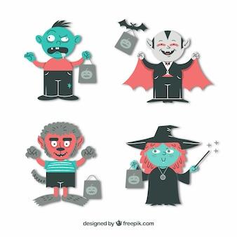 Coleção de monstros do dia das bruxas