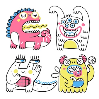 Coleção de monstros fantásticos