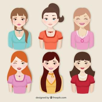 Coleção de mulheres bonitas