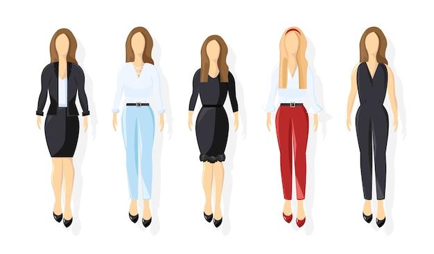 Coleção de mulheres de negócios