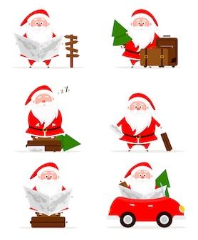 Coleção de natal santa journey