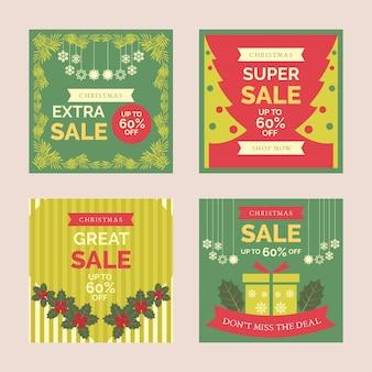 Coleção de natal venda instagram post
