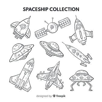 Coleção de naves espaciais lineares