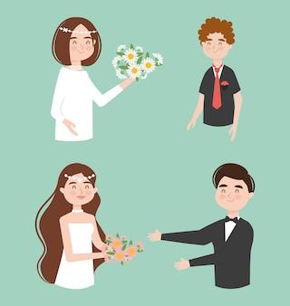 Coleção de noivas e noivos