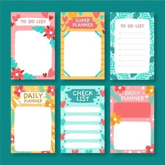 Coleção de notas e cartões decorativos para álbum