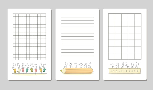 Coleção de notas fofas para cartões, etiquetas, modelo, etiquetas, para embrulhar cadernos diários