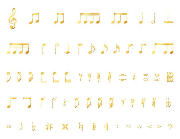 Coleção de notas musicais