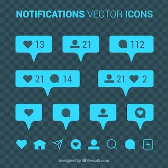 Coleção de notificação do instagram
