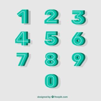Coleção de números 3d