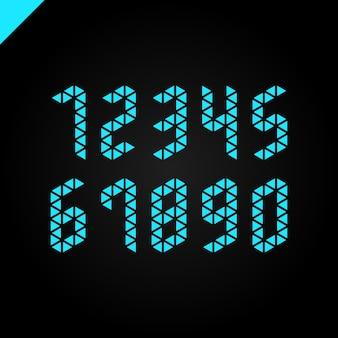 Coleção de números de esporte isométrico