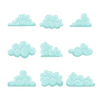 Coleção de nuvem desenhada à mão