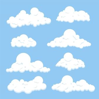 Coleção de nuvem plana