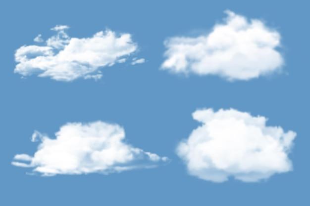 Coleção de nuvem realista