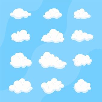 Coleção de nuvens de desenho animado