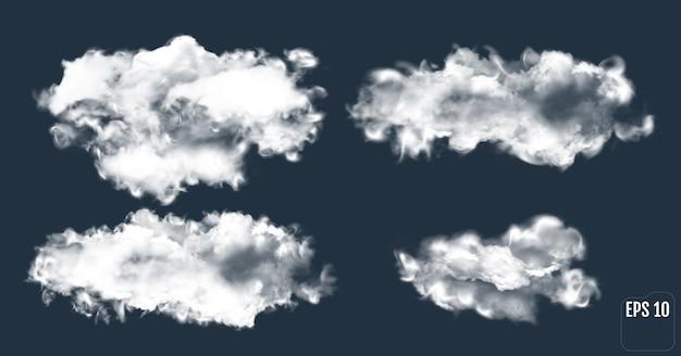 Coleção de nuvens de tempestade