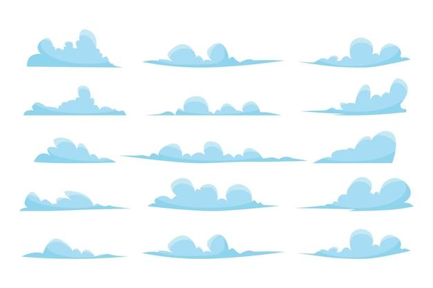 Coleção de nuvens planas