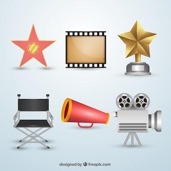 Coleção de objetos de cinema