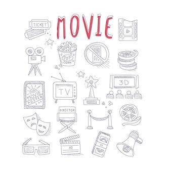 Coleção de objetos de produção e indústria de filmes