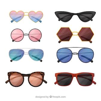 Coleção de óculos de sol moderno