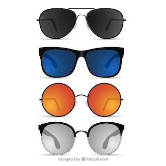 Coleção de óculos de sol realista