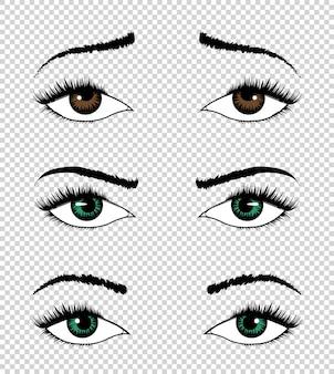 Coleção de olhos.
