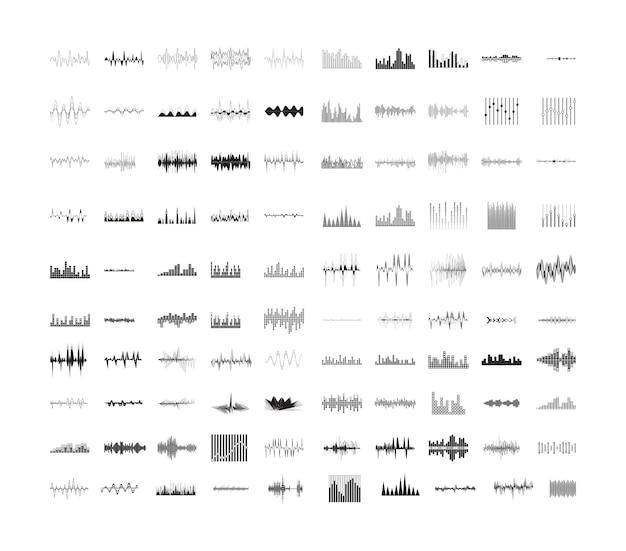 Coleção de ondas do equalizador