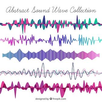 Coleção de ondas sonoras