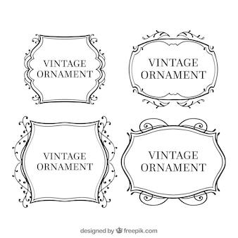 Coleção de ornamentos vintage