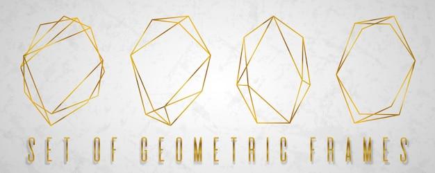 Coleção de ouro do poliedro geométrico.