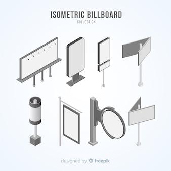 Coleção de outdoor isométrica