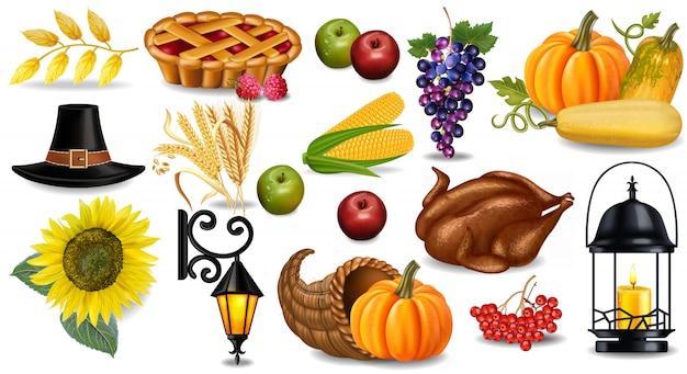 Coleção de outono de ação de graças