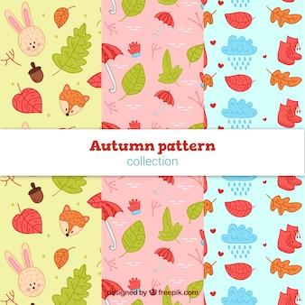 Coleção de outono padrão bonito