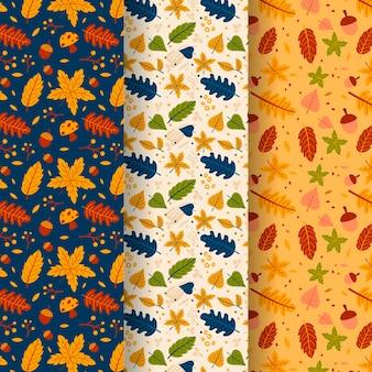 Coleção de outono plana padrão