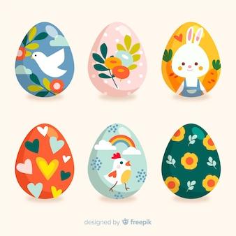 Coleção de ovos de páscoa coloridos