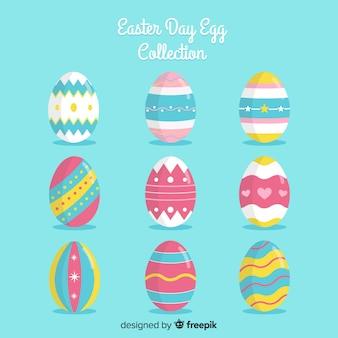 Coleção de ovos de páscoa dia