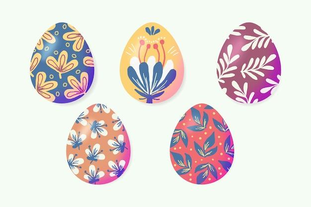 Coleção de ovos de páscoa em aquarela design