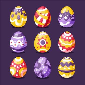 Coleção de ovos de páscoa fofo