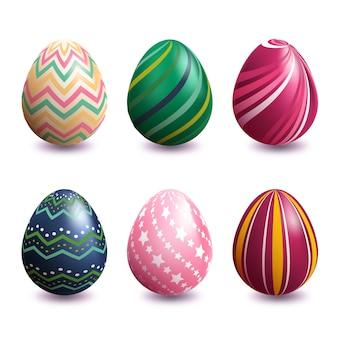 Coleção de ovos de páscoa realista