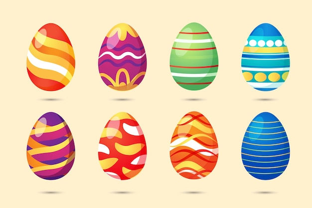 Coleção de ovos de páscoa