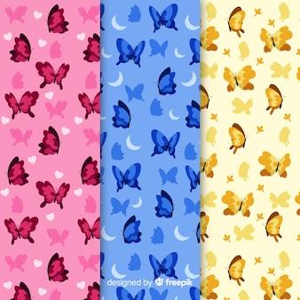 Coleção de padrão de borboletas