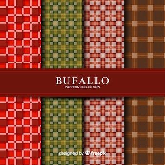 Coleção de padrão de búfalo bonito