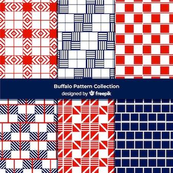 Coleção de padrão de búfalo colorido