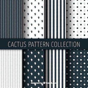 Coleção de padrão de cacto geométrico